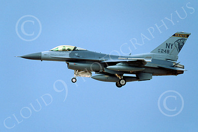 F-16ANG 00040 Lockheed Martin F-16 Fighting Falcon New York Air National Guard 84248 2002 by Peter J Mancus