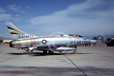 F-100ANG 00003 North American F-100D Super Sabre New Mexico Air National Guard 41742 1986 by Peter J Mancus