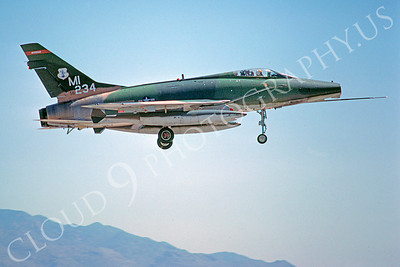 F-100ANG 00012 North American F-100D Super Sabre Michigan Air National Guard 56234 June 1978 by Peter J Mancus