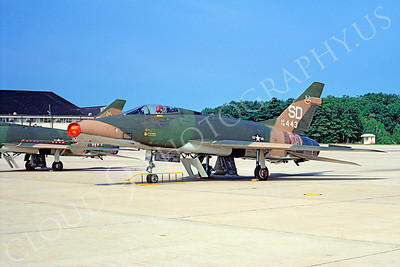 F-100ANG 00005 North American F-100D Super Sabre Connecticut Air National Guard 56443 Windsor Locks 19 September 1971 by David Ostrowski