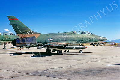 F-100ANG 00013 North American F-100F Super Sabre Michigan Air National Guard 56726 Tucson 1973 by Peter J Mancus