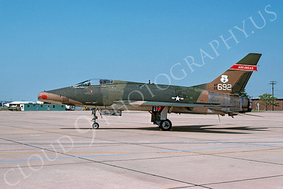 F-100ANG 00017 North American F-100D Super Sabre Arkansas Air National Guard 55692 Ft Smith 9 August 1976 by Lindell H Reynolds