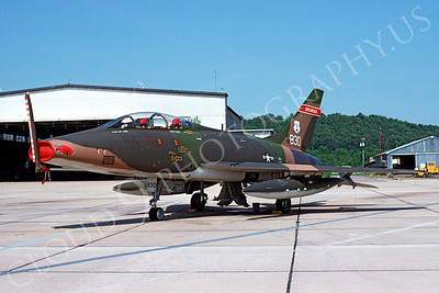 F-100ANG 00007 North American F-100F Super Sabre Arkansas Air National Guard 56830 Ft Smith 8 September 1976 by Lindell Reynolds