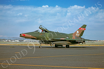 F-100ANG 00001 North American F-100 Super Sabre Arkansas ANG 55833 10 March 1976 by Fred Roos