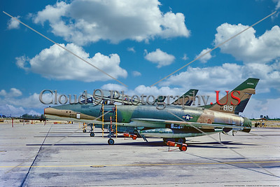 F-100-ANG-AZ 001 A static cam North American F-100F Super Sabre, 56819, Cold War era supersonic jet fighter, 4-1972 Tucson, military airplane picture by Stephen W  D  Wolf     11A_5729     Dt