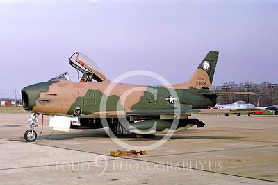 F-86ANG 00005 North American F-86H Sabre Maryland ANG Sept 1966 by Frank MacSorley