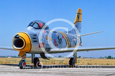 F-86ANG 00007 North American F-86 Sabre California ANG by Peter J Mancus