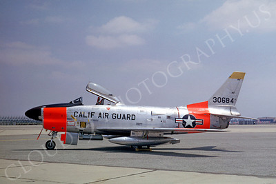 DG 00014 North American F-86L Sabre California ANG July 1962 by Clay Jansson
