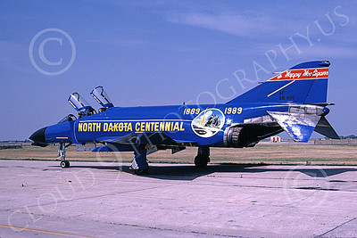 F-4ANG 00117 McDonnell Douglas F-4D Phantom II North Dakota Air National Guard 66498 Fargo North Dakota Centennial 19 Aug 1989 military airplane picture by Douglas E Slowiak