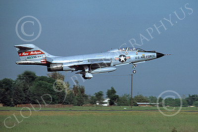 F-101BANG 00054 A landing McDonnell F-101B Voodoo North Dakota ANG 80335 Happy Hooligans McClelland AFB by Peter B Lewis