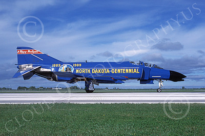 F-4ANG 00233 McDonnell Douglas F-4D Phantom II North Dakota Air National Guard 66498 178 FIS Fargo North Dakota Centennial 9 Sept 1989 military airplane picture by Charles B Mayer