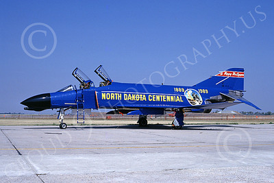 F-4ANG 00195 McDonnell Douglas F-4D Phantom II North Dakota Air National Guard 66498 Fargo North Dakota Centennial 18 Aug 1989 military airplane picture by Brian C Rogers
