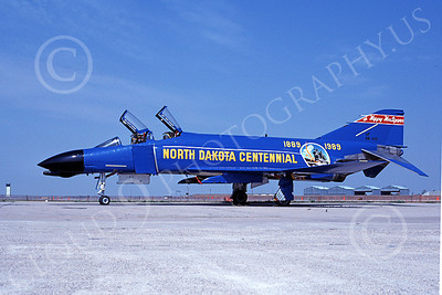 F-4ANG 00257 McDonnell Douglas F-4D Phantom II North Dakota Air National Guard 66498 178 FIS Fargo North Dakota Centennial Aug 1989 military airplane picture by R Koivisto