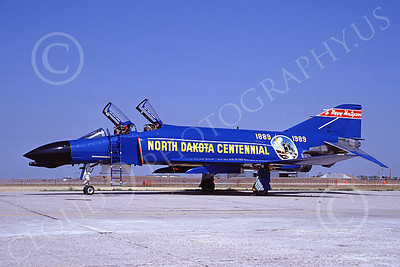 F-4ANG 00201 McDonnell Douglas F-4D Phantom II North Dakota Air National Guard 66498 178 FIS Fargo North Dakota Centennial Aug 1989 military airplane picture by Don Logan