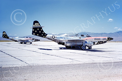F-89ANG 00039 A static Northrop F-89 Scorpion Idaho ANG 92446 1968 military airplane picture by Clay Jansson