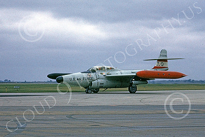 F-89ANG 00045 A taxing Northrop F-89J Scorpion Iowa ANG 522315 1-1968 military airplane picture by Peter B Lewis
