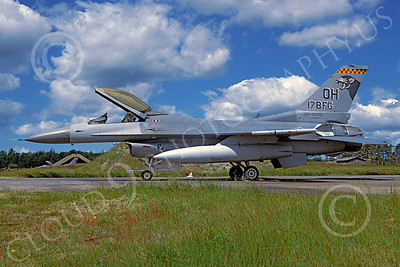 F-16ANG 00113 Lockheed Martin F-16 Fighting Falcon Ohio Air National Guard 870222 via African Aviation Slide Service