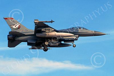 F-16ANG 00036 Lockheed Martin F-16 Fighting Falcon Oklahoma Air National Guard 89073 Sept 2000 by Peter J Mancus