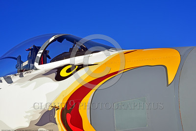 EE-F-15ANG 0006 Tight crop of eagle head nose art on a one-of-a-kind colorful paint scheme McDonnell Douglas F-15 Eagle air superiority jet fighter Oregon Air National Guard 79041 Reno Air Races 2016 military airplane picture by Peter J  Mancus