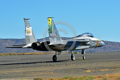 EE-F-15ANG 0016 A taxing colorful McDonnell Douglas F-15 Eagle air superiority jet fighter Oregon Air National Guard 79041 at Stead for Reno Air Races 9-2016 military airplane picture by Peter J  Mancus