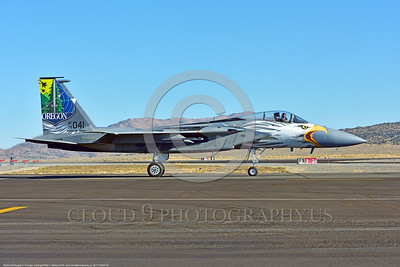 EE-F-15ANG 0002 A taxing one-of-a-kind colorful paint scheme McDonnell Douglas F-15 Eagle air superiority jet fighter Oregon Air National Guard 79041 at Stead for Reno Air Races 2016 military airplane picture by Peter J  Mancus