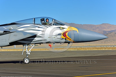 EE-F-15ANG 0028 Close up of a F-15 Eagle air superiority jet fighter pilot Oregon ANG in his office taxing for take-off 9-2016 military airplane picture by Peter J  Mancus