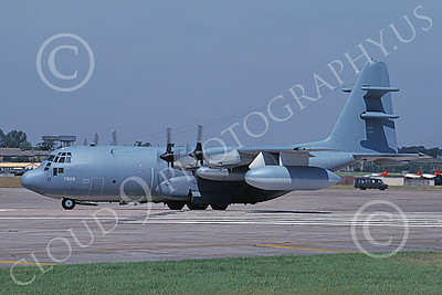 EC-130EANG 00003 A taxing Lockheed EC-130E Hercules Pennsylvania ANG 9-1996 military airplane picture by Julian Hill