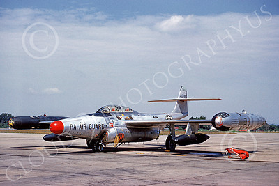 F-89ANG 00021 A static Northrop F-89H Scorpion Pennsylvania ANG 40385 6-1960 military airplane picture by Clay Jansson