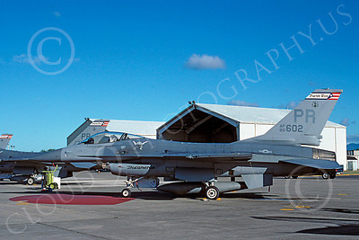 F-16ANG 00053 Lockheed Martin F-16 Fighting Falcon Puerto Rico Air National Guard 80602 Nov 1993 by Werner WHartman via AASS