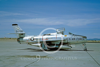 F-84F-ANG 00003 Republic F-84F Thunderstreak Indiana ANG March 1965 by Clay Jansson