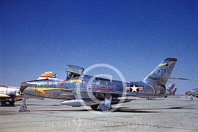 F-84F-ANG 00001 Republic F-84F Thunderstreak Ohio ANG Oct 1960 by Clay Jansson