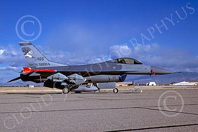 F-16ANG 00119 Lockheed Martin F-16 Fighting Falcon South Dakota Air National Guard 85466 by Douglas E Slowiak 10 Dec 1997 via African Aviation Slide Service