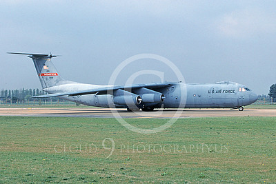 C-141BANG 00003 A taxing Lockheed C-141B Starlifter Tennessee ANG 70021 5-2003 military airplane picture by Bill Moore