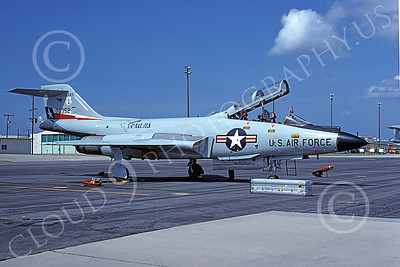 F-101BANG 00055 A static McDonnell F-101B Voodoo Texas ANG 70352 111 FIS Tyndall AFB 9-1978 military airplane picture by Jim Tunney