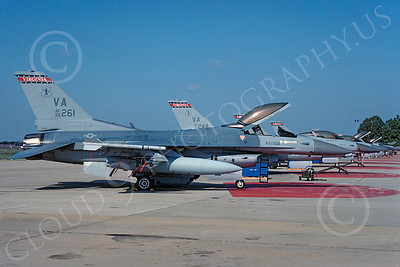 F-16ANG 00049 Lockheed Martin F-16 Fighting Falcon Virginia Air National Guard 86261 Nov 1992 via African Aviation Slide Service