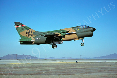A-7ANG 00012 Vought A-7D South Dakota Air National Guard 75389 MCAS Yuma by Peter J Mancus