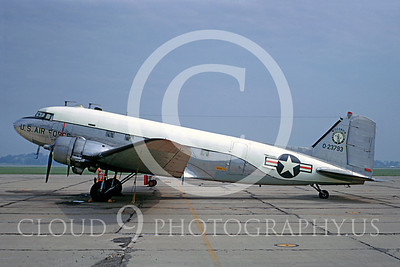 C-47ANG 00003 Douglas C-47 Skytrain Wisconsin Air National Guard 23793 13 July 1968 Milwaukee by Peter B Lewis