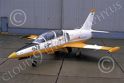 L-39 00007 A static Aero Vodochody L-39 Albatros German Air Force 28 49 4-1991 military airplane picture by Marcus Herbote