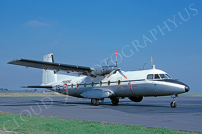 Aerosptiale Nord 262 00005 Aerosptiale Nord 262  French Navy 75 March 1990 via African Aviation Slide Service