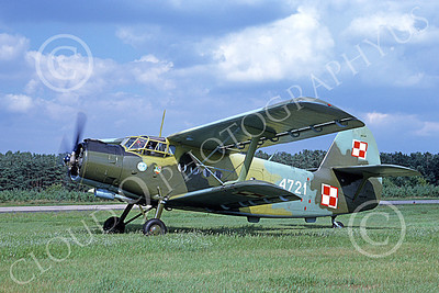 An-2 00011 A taxing Antonov An-2 Colt Polish Air Force 4721 9-1991 military airplane picture by W Gysin-Aegerter