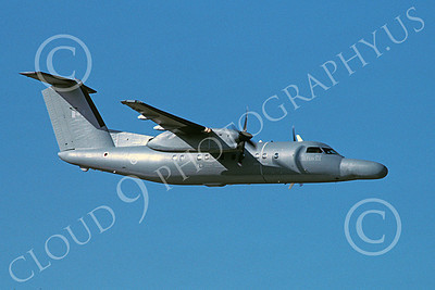 CT-142 00002 A flying Bombardier CT-142 Dash 8 Canadian Armed Forces 6-1991 military airplane picture by Barry E Roop
