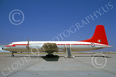 Bristol Brittania 00005 A satic, colorful, Bristol Brittania British RAF XX367 NAS Moffett 6-1973 military airplane picture by Michael Grove, Sr