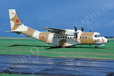 CASA CN-235 00001 CASA CN-235 Morrocan Air Force CNA-MD August 1998 African Aviation Slide Service