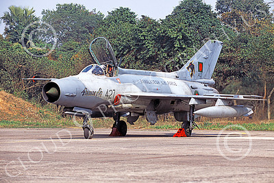 Chengdu F-7 00003 A static Chengdu F-7 Fishbed Bangladesh Air Force 427 military airplane picture by Rogier Westerhuis