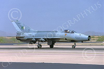 Chengdu F-7 00018 A taxing Chengdu F-7 Pakistani Air Force 89560 8-2002 military airplane picture by Rogier Westerhuis