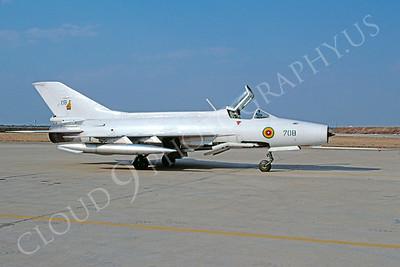 Chengdu F-7 00001 Chengdu F-7 Zimbabwe Air Force 708 via African Aviation Slide Service