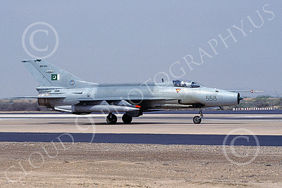 Chengdu F-7 00017 A static Chengdu F-7 Pakistani Air Force 89558 8-2002 military airplane picture by Rogier Westerhuis