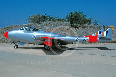 de Havilland Vampire 00007 de Havilland Vampire South African Air Force 277 via African Aviation Slide Service
