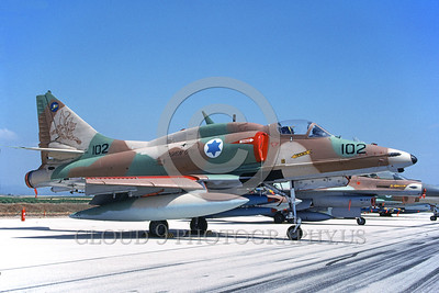 A-4Forg-Isr 0001 A static Israeli Air Force Douglas A-4 Skyhawk attack jet military airplane picture by Wilfried Zetsche