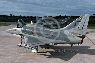 A-4Forg-Braz 0011 A static Brazilian Navy Douglas A-4 Skyhawk attack jet military airplane picture by Ken Ingle